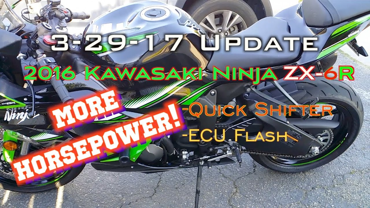 2016 Kawasaki Ninja Zx 6r 636 More Horsepower Mods Ecu Flashed