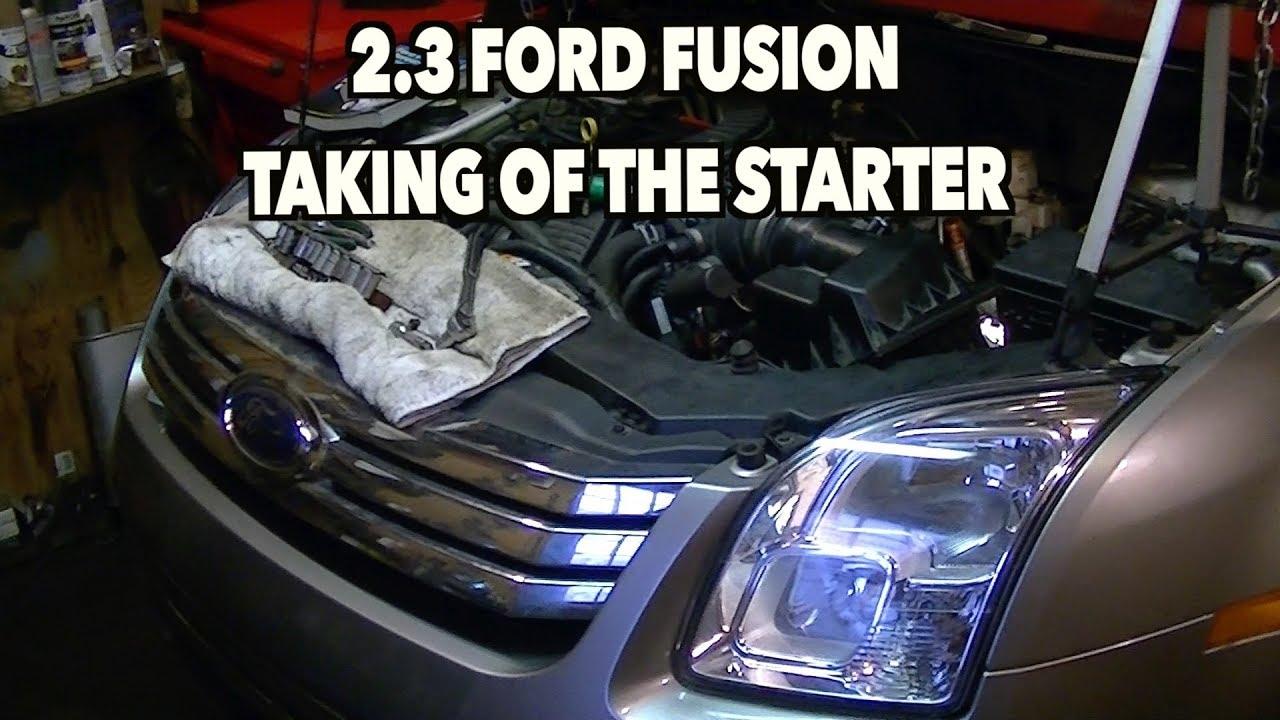 medium resolution of 2 3 ford fusion starter removal 2008