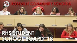 Roseville High School Student School Board 2018