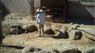 Dry Japanese Garden Pond Construction