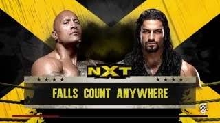WWE 2K16 The Rock VS Roman Reigns Falls Count Anywhere PS4