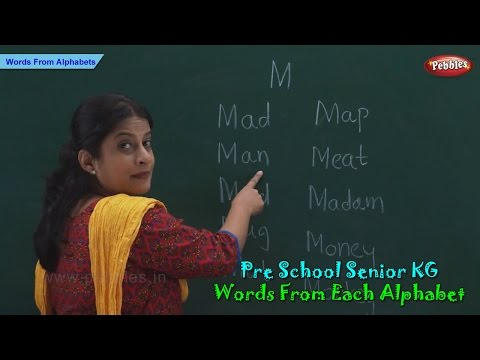 Words From Each Alphabet | Alphabets & Words | Words & Spellings | Pre School Senior KG
