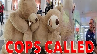 HUMAN TEDDY BEAR CHALLENGE Social Experiment * GONE WRONG* COPS CALLED