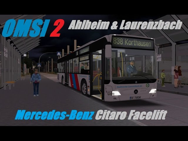 OMSI 2  Ahlheim & Laurenzbach, Line 838, Mercedes-Benz Citaro Facelift   Part 1 - YoutubeDownload pro