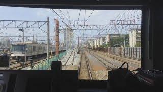 【竹ノ塚高架化工事中】東武51058F前面展望 西新井~草加間