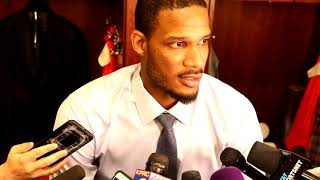 Trevor Ariza Postgame Interview / Rockets vs Timberwolves Game 1