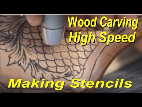 Gun Stock Carving Equipment Wood, Metal, Glass, Fishscale grip, Power Carver review, Power carving