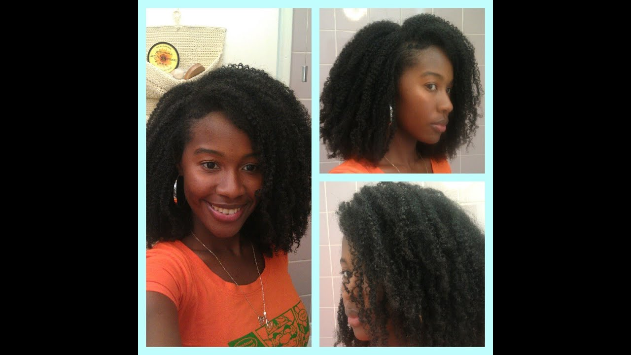 Natural Hair  Best Wash and Go Ever Using Flaxseed Gel