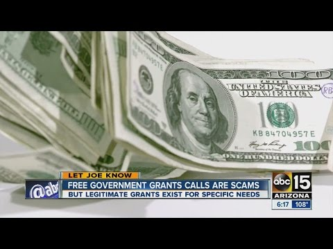 Free government grant calls are scams - YouTube