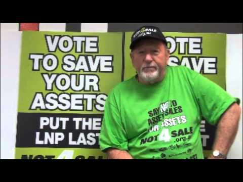 Tony Barry calls for workers to support their communities and the Not4Sale campaign