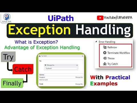 UiPath Exception Handling Try Catch UiPath RPA - YouTube