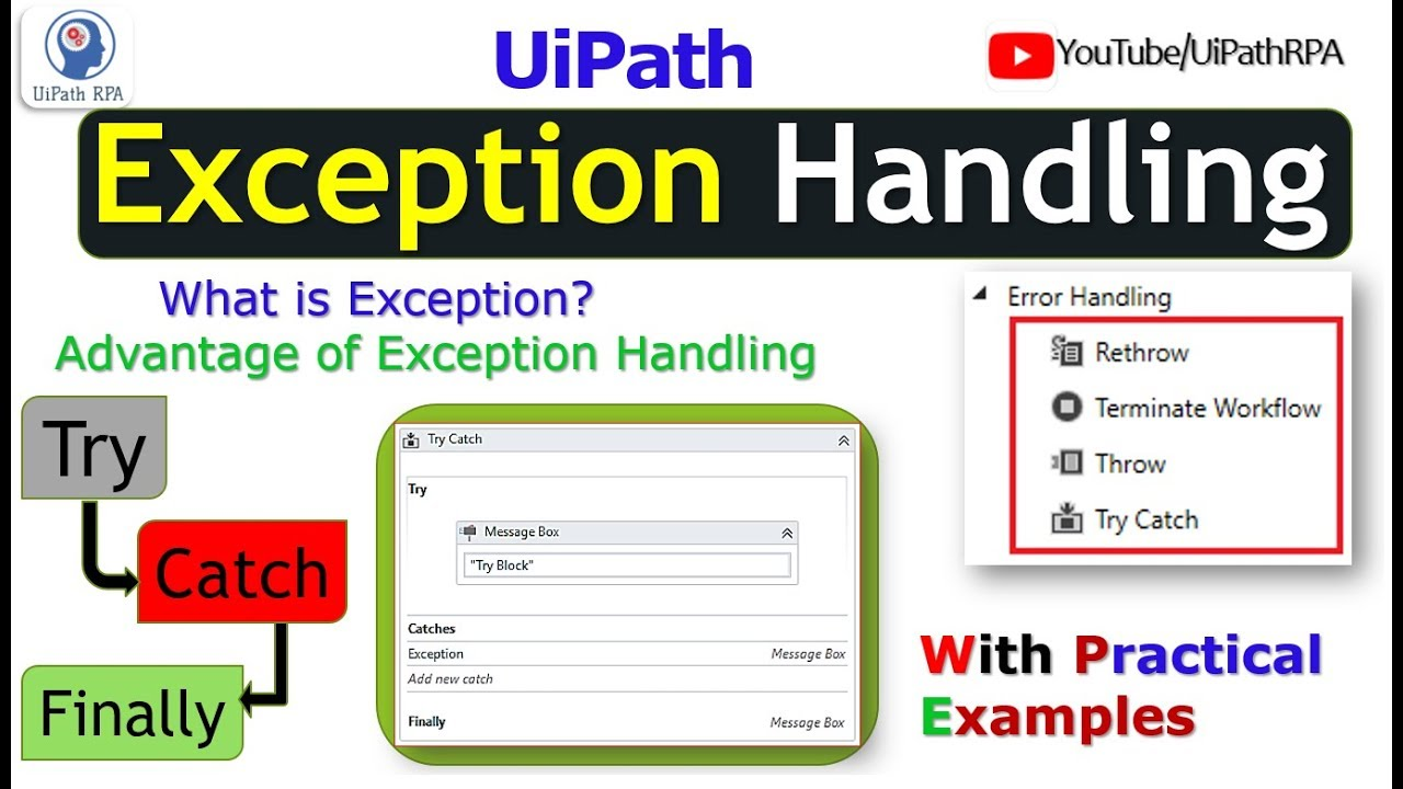 UiPath Exception Handling|Try Catch|UiPath RPA