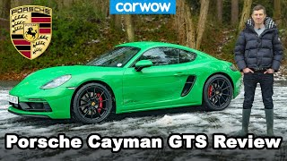 Porsche Cayman GTS 2021 review - 0-60mph, 1/4-mile & drifted in snow!