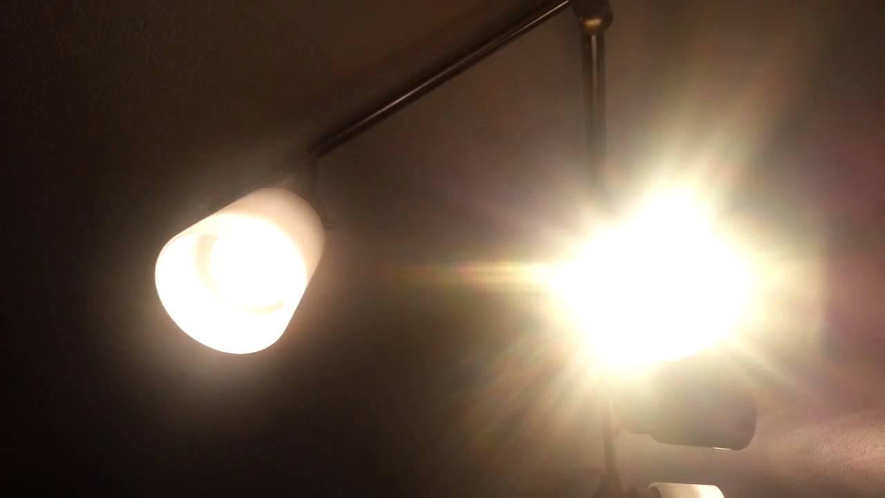GU10 LED from IKEA vs Halogen - YouTube