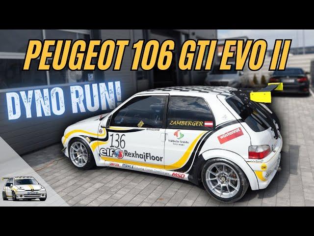 SRT - Prüfstandslauf - Martin Zamberger Peugeot 106 GTi EVOII 1,6 16v TU5J4 10000u/min!