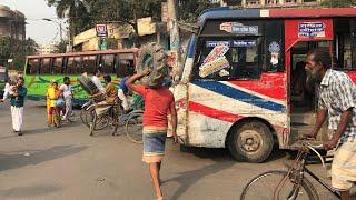 Traffic jam in Dhaka