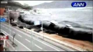 Страшные кадры цунами в Японии! после землетрясения