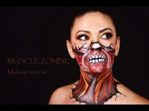 Muscle Zombie Makeup tutorial