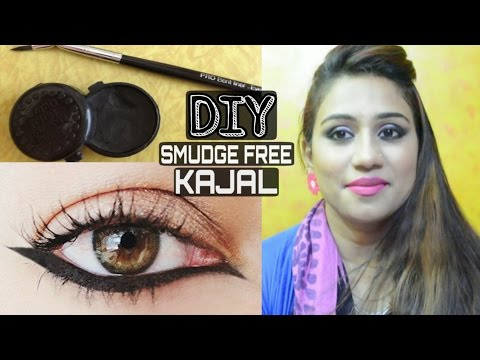 DIY Natural Organic Kajal | Homemade Natural Kajal | How To Make Your Own Kajal At Home |Smudge Free