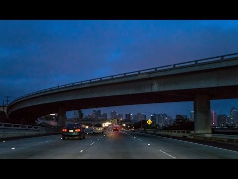 13-35 San Diego #2 of 5: I-5 South & The Coronado Bridge at Nightfall