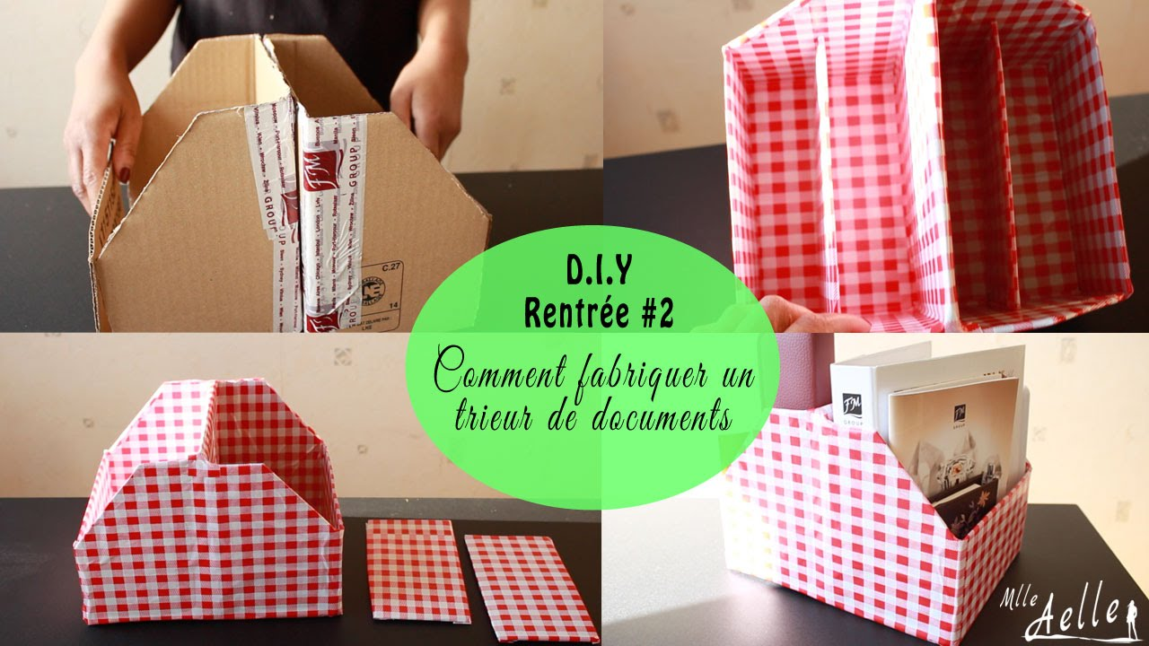diy rentr e 2 fabriquer un trieur de documents youtube. Black Bedroom Furniture Sets. Home Design Ideas