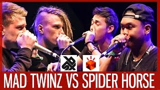 MAD TWINZ vs SPIDERHORSE  |  Grand Beatbox TAG TEAM Battle 2017  |  SEMI FINAL