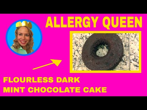 Flourless Dark Mint Chocolate Cake