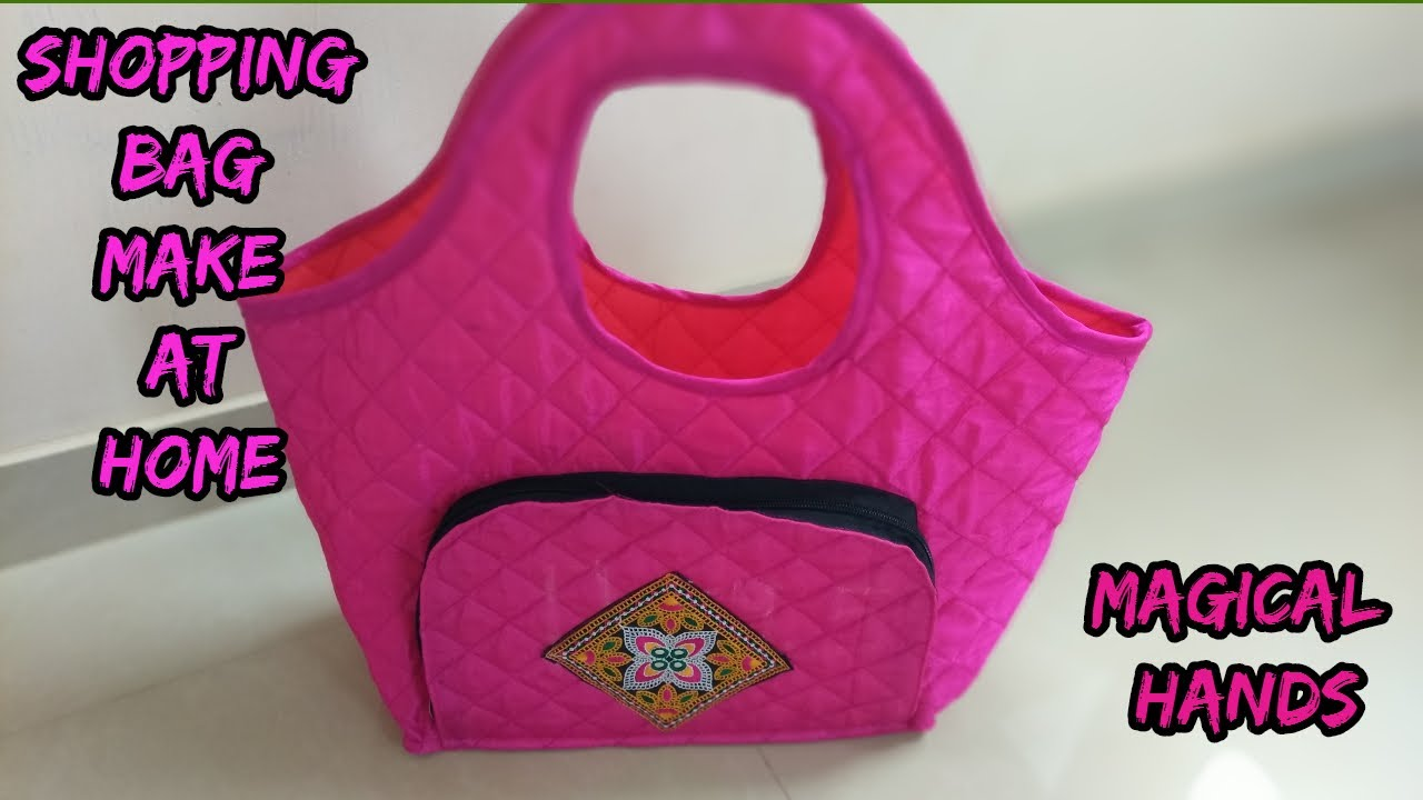 shopping bag make at home/shopping bag cutting and sewing/how to ...