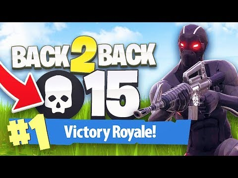 BACK TO BACK 15 KILL SOLO WINS! - FORTNITE BATTLE ROYALE
