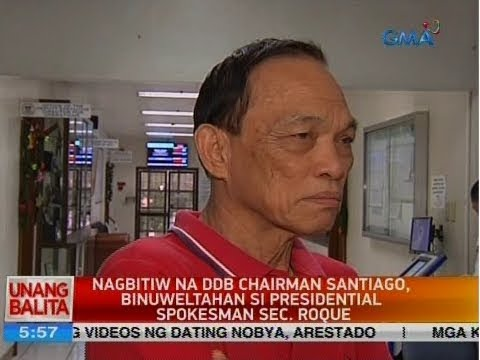 UB: Nagbitiw na DDB Chairman Santiago, binuweltahan si Presidential Spokesman Sec. Roque