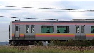 信越本線上り始発E129系A14編成420M