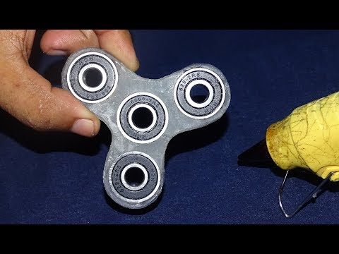 How To Make A Fidget Spinner Using  Hot GLUE