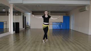 Восточные танцы для начинающих - Урок 9 (проходки, часть 2)