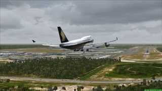 Singapore Airlines Boeing 747-400 landing in Kuala Lumpur (FSX HD)