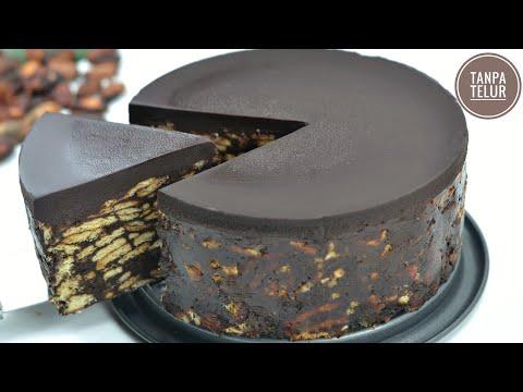 Kue Coklat Enak Dan Mudah,tanpa Oven,tanpa Telur,takaran Sendok   Kue Coklat Biskuit