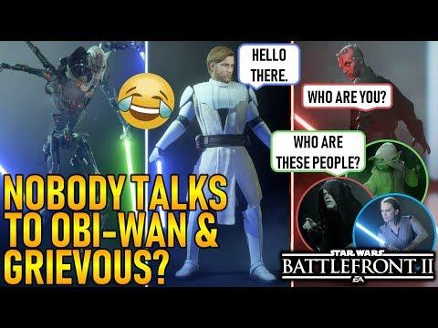 NOBODY TALKS TO OBI-WAN & GRIEVOUS? Star Wars Battlefront 2 thumbnail