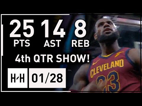 LeBron James EPIC Full Highlights Cavaliers vs Pistons (2018.01.28) - 25 Pts, 14 Assists, 8 Reb!