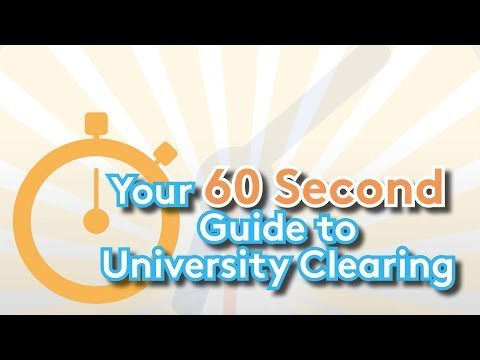 Your 60 Second Guide to University Clearing