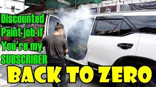 Back to Zero Anti-Bac Treatment on my FORTUNER l Discounted PAINT JOB l Gen Sai Oto Carwash