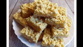 Тертое печенье с творогом Пирог с творогом Простой рецепт