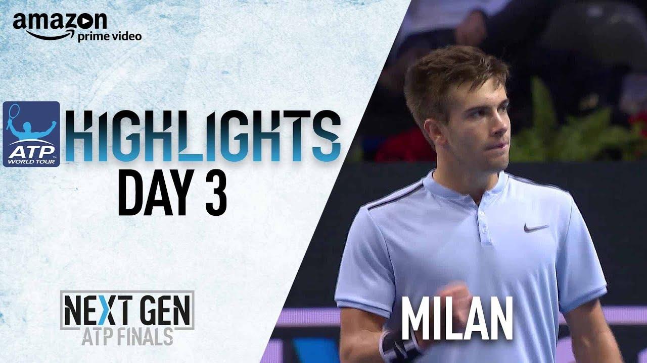 Highlights Coric Survives Khachanov Milan 2017 Youtube