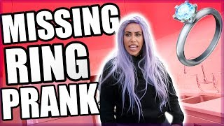 LOST WEDDING RING PRANK!! 💍 😭  (SHE WENT CRAZY!!)