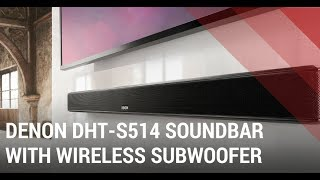 Denon DHT-S514 Soundbar with Wireless Subwoofer - Quick Review India