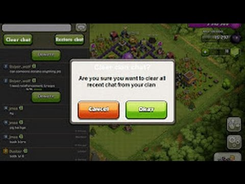 2 simple ways to clear clan chat | Clash of Clans |2017 100% working