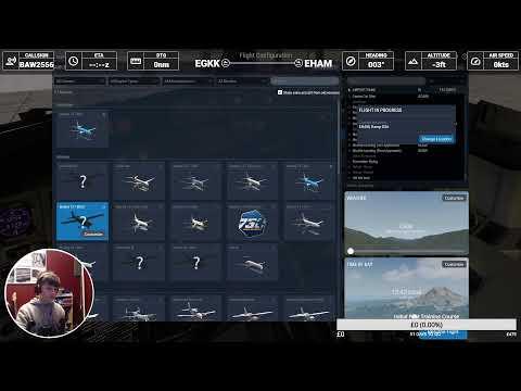 X Plane 11! EGKK - EHAM  - EDDH ~ Live On VATSIM ~ With Navigraph Charts! CJW8411