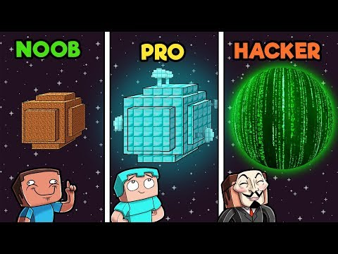 Minecraft - PLANETS! (NOOB vs PRO vs HACKER)