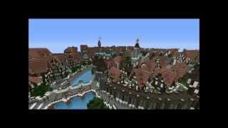 Minecraft] Epic Medieval Town of Ferrodwynn YouTube