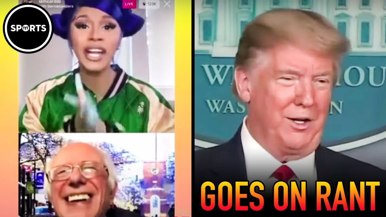 Cardi B and Bernie ROAST Trump On Instagram Live