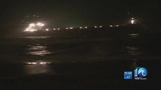 Cargo ship runs aground near Shore Drive
