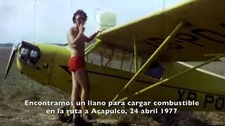 vuelo a pochutla brincando las olas en el oceano pacifico1977 piper j 3 xb poy